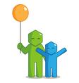 Hexagon man - giving balloon vector