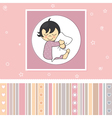 Sweet baby girl card vector