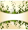 Abstract background with green leaves for design vector