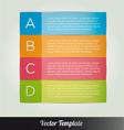 Options tab template vector