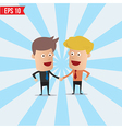 Cartoon business man hand shake - - eps10 vector