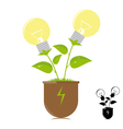 Ecology lamps on the plant vector