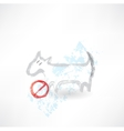 Ban dog grunge icon vector