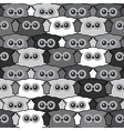 Seamless vintage pattern with cute owls vector