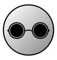 Glasses button vector