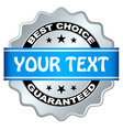 Best choice guaranteed label vector