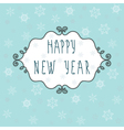 Happy new year greeting card with decorative frame vector