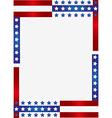 Patriotic frame background vector