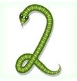 Snake font digit 2 vector