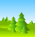 Spring or summer landscape scenery with trees vector