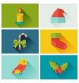 Set of merry christmas and happy new year icons vector