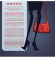 Legs and bag vector