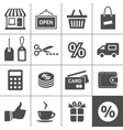 Shopping icons set - simplus series vector
