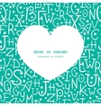 White on green alphabet letters heart silhouette vector