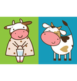 Two funny cows vector