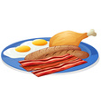 Eggs and bacons vector