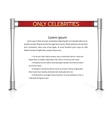 Red rope barrier vector