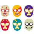 Lucha libre mexican wrestling masks vector