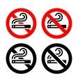 Symbols set - no smoking vector