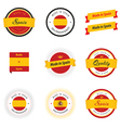 Made in spain labels badges and stickers vector