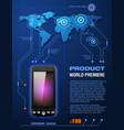 Mobile cell smart phone telecom provider flyer vector