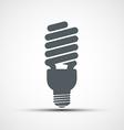 Energy saving light bulb icon vector