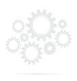 Retro gear bridge isolated background vector