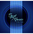 Music background with glowing strings of guitar vector