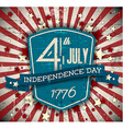 Independence day badge poster vector