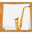An empty paper with a trombone vector