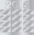 Simple european 2015 year calendar vector