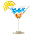 A wineglass with a touch of summer vector