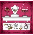 Jewelry shop display vector