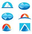 Set of mountains logo vector