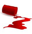Barrel with red liquid vector