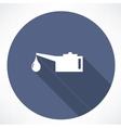 Oiler single flat icon vector