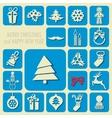 Christmas icons set vector