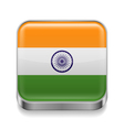 Metal icon of india vector