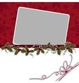Cute christmas postcard template vector