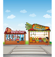Cartoon shops vector