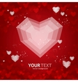 Heart flat valentines day card background vector