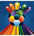 Soccer ball with stars4 vector