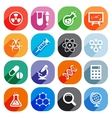 Trendy flat science icons elements vector