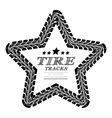 Tire tracks frame vector