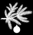 Pine tree branch with christmas ball vector