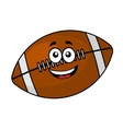 Fun happy football or rugby ball vector
