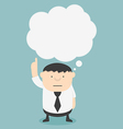 Business fat with speech bubbles vector