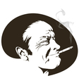 Cigarette smoker vector