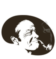 Pipe smoker vector