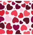 Valentine seamless hearts pattern background vector